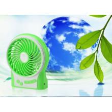 Carregador portátil USB mini ventilador com vento de nível 3 acelerando-Green