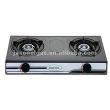 Teflon Double burner table gas cooker,gas stove