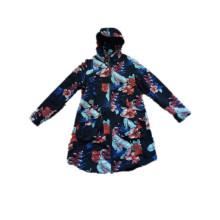 Impermeable de PVC con capucha reflectante colorido para mujer