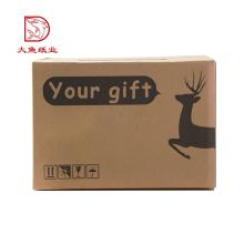 Fait sur commande jetable avec la boîte de carton de courrier de logo pour l'expédition