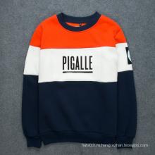 Патч-свитер контрастной цветной печати Letter Sweatshirt