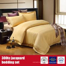 Поли хлопок 300TC отель Жаккардовые роскошное постельное белье