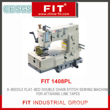 8-Needle Flat-Bed Double Chain Stitch Sewing Machine (FIT1408PL)