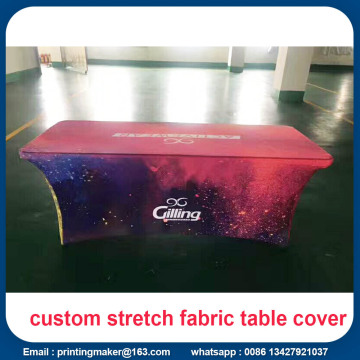 Logo Printed 6ft Stretch Table Cover