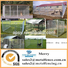 outdoor single dog runs chain link kennel enclosure fence with waterproof roof
