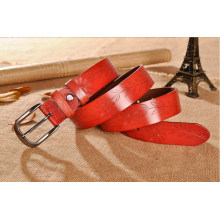 Woman Embossed leather belt