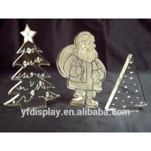 Klarer moderner schneiender Weihnachtsbaum Acrylas