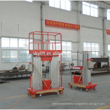 TWO-mast electric hydraulic lift table aerial working platform/lift elevator