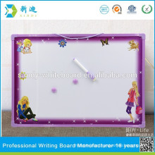 purple frame magnetic whiteboard stick on fridge for kids