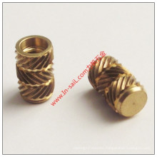 2016 Wholesale Ultrasonic Threaded Insert in Brass for Plastics