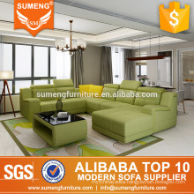SUMENG new arrival brilliant lounge removable cover corner sofa