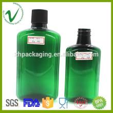250ml 500ml PET grossista garrafa de plástico verde vazio com alta qualidade