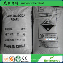 99% Perles de soude caustique Hydroxyde de sodium
