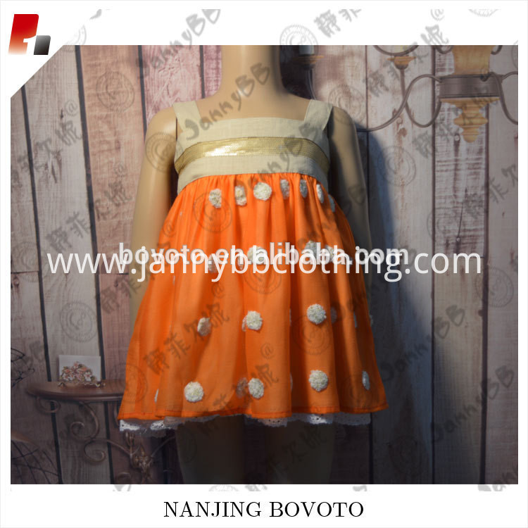 orange dots dress05