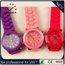 Montre de marque de Genève, montres de dames de mode, montre de silicone (DC-244)