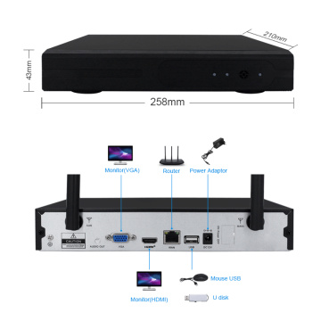HD Wifi Kamera System NVR Kit mit Monitor