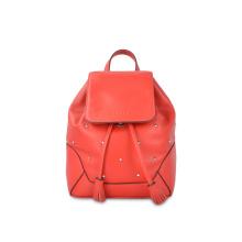 Мода Натуральная кожа Женщины Маленькие рюкзаки с заклепками