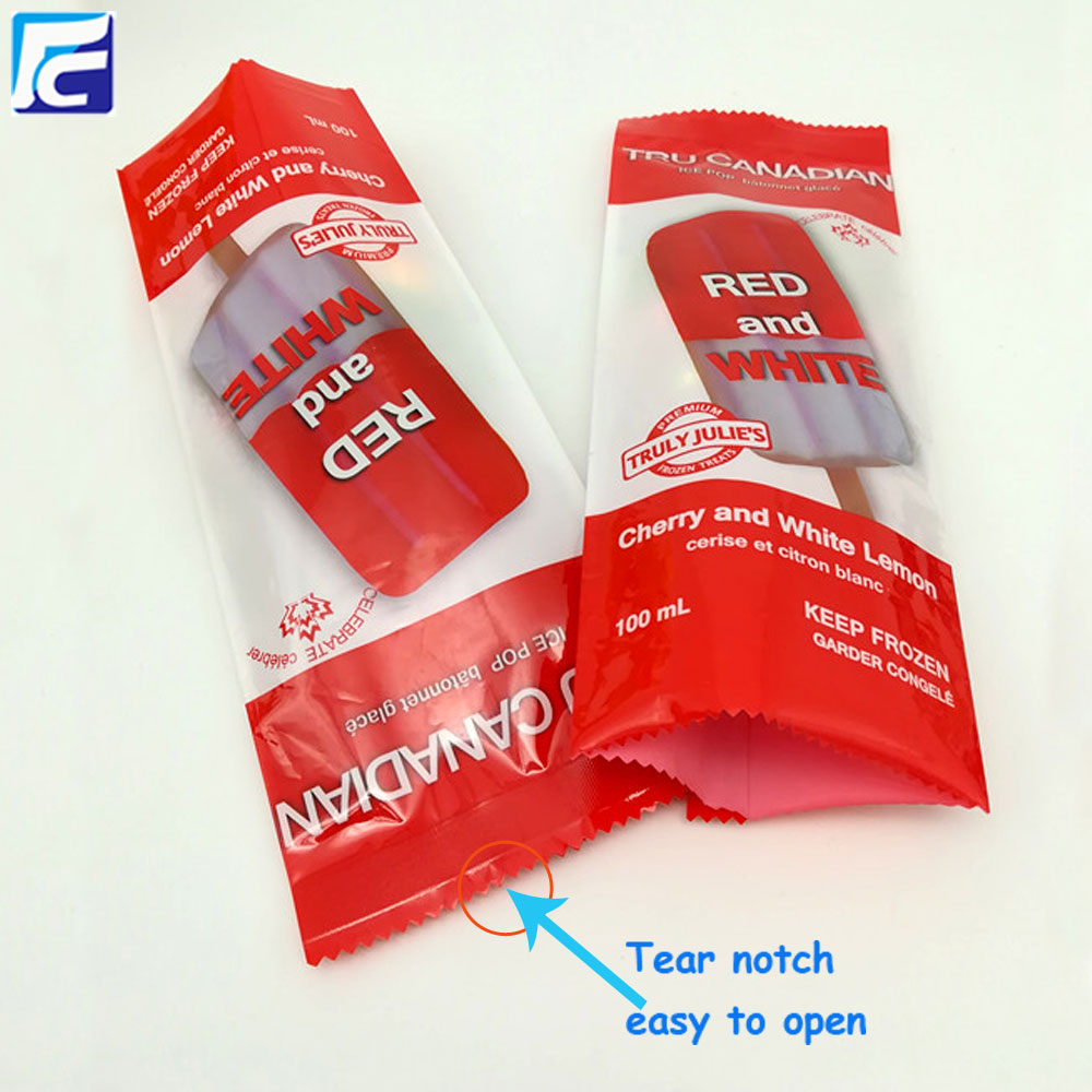 Ice pop wrapper