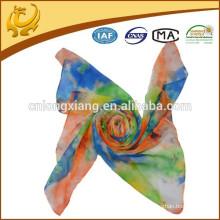 Lady Pattern Large Long Scarf Head Wrap Kerchief Neck Chiffon Shawl Custom Silk Scarves