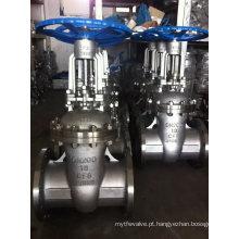 Válvula de porta 304/316 de aço inoxidável da flange para o gás e a água de óleo (Z41F)