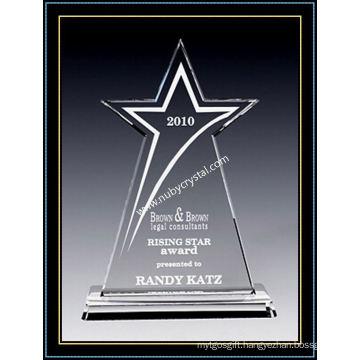 American Star Award Crystal 10 Inch Tall (NU-CW864)