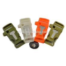 2015 bracelets with fire starter whistle buckle bracelets