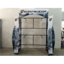 4-Way Floorstand China Wholesale Merchandise Metal Shooting Garment Shop Furniture Garment Display