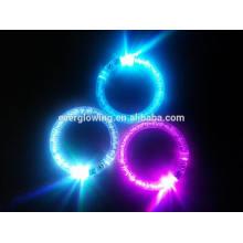 Pulseiras de acrílico flash LED super qualidade venda quente 2017
