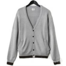95%Cotton 5%Cashmere Men′s Pullover Sweater Men Knitwear Fine Gauge Sweater Knitwear