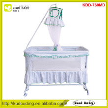 2015 Manufacturer Children's Swing Bed with Mosquito Net 4pcs wheels can be turned up Indoor Swing Bed Crib