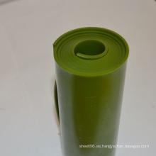 Hoja / rollo plástico verde oscuro ignífugo de la PU / rollo