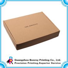 Высокое качество доставка коробка крафт с черным логотипом