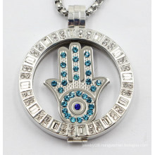 High End Fashion Floating Locket with Interchangeable Coin