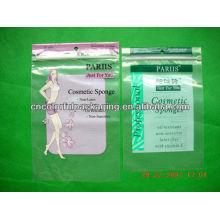 Mylar OPP sacos laminados com um pacote de orifício para embalagens de cosméticos Sponge