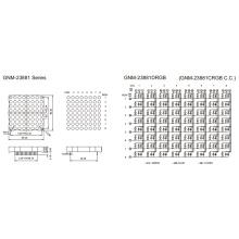 2.3 pulgadas de altura 5.0mm DOT Matrix (GNM-23881cxx-dxx)