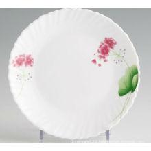 Heat-resistant Decorative Opal Glassware Coupe Plate
