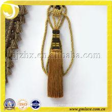 gold decorative curtain tieback tassel in stock