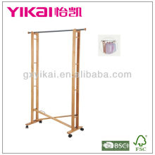 Functional Solid Wood Clothes Rack