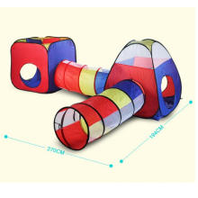 4 in 1 Pop Up Children Toddler Ball Pit House with 2 Tents 2 Tunnel for Kids, Boys, Girls and Toddlers Indoor Outdoor Play house