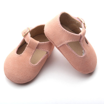 Pink Soft Baby Baby Casual T Bar Shoes
