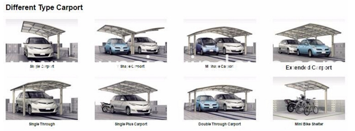 different type of carport