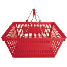 Double Metal Handle Supermarket/Shopping Basket with New PP Material