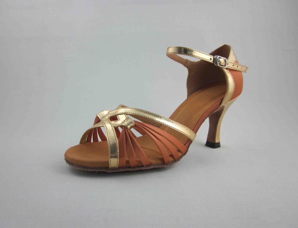 Flesh Satin Latin Shoes