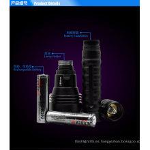 H3 Tactical militar linterna impermeable 3 * cree 2500 lumens marino llevó reflector