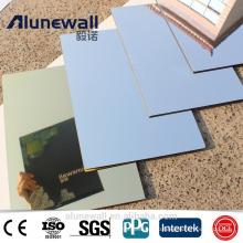 Alunewall 2017 latest design fireproof Aluminium Composite Mirror Panel