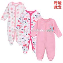 2017 venta caliente diseño lindo mono de los bebés 3 unids girft conjunto manga larga otoño temporada bebé niña ropa mameluco