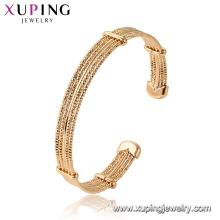 52128 xuping liga de cobre de cor de ouro 18k ambiental banhado a pulseira
