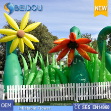 Large Wedding Party Events Stages LED Decorations Lighted Inflatable Flowers
