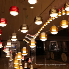 Characteristic shopping mall colours customized pendant lamp