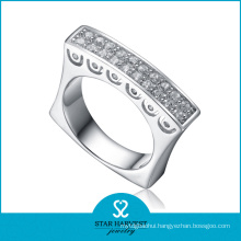 Wholesale Square Silver Ring Jewellery in Stock (R-0066)